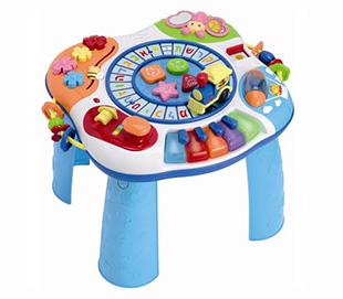 שולחן פעילות רכבת האותיות ופסנתר WIN FUN מבית אצבעוני